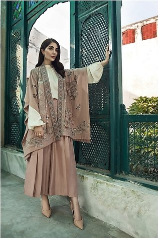KFW20-61 Formal Stitched Embroidered CapeShawl-1Pc