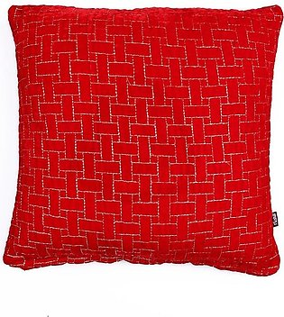 Riona-Dec Cushion Filled Emb Red