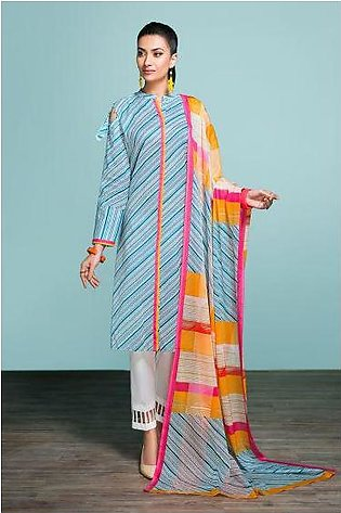 42001327- Printed Lawn & Voil 2PC