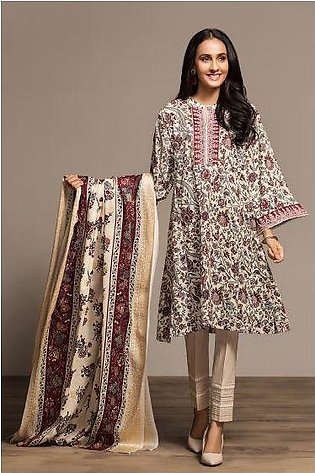 PS20-70 Printed Embroidered Stitched Shirt & Printed Dupatta - 2PC