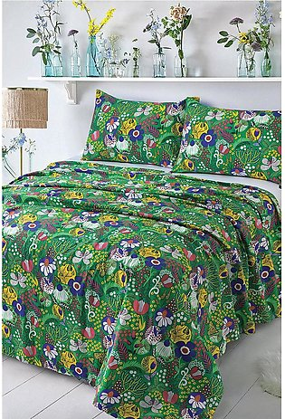 Bed Sheet Green Garden
