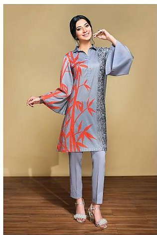 42001316- Printed Embroidered Lawn & Cambric 2PC
