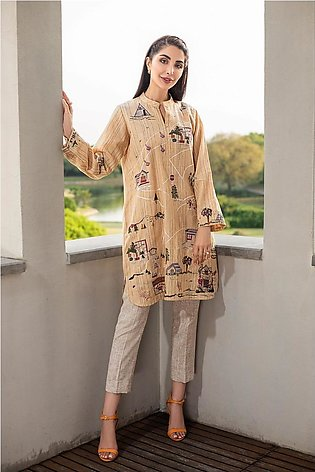 KFW20-38 Formal Stitched Embroidered Kurta-1Pc