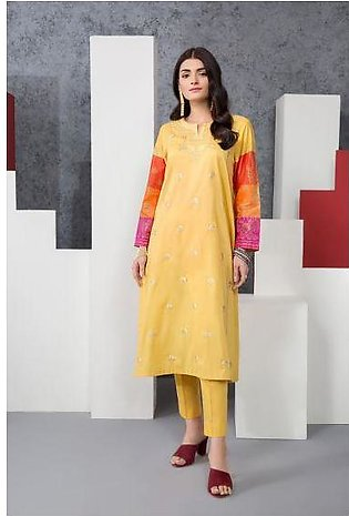 PE20-29 Dyed Embroidered Stitched Lawn Shirt & Trouser - 2PC