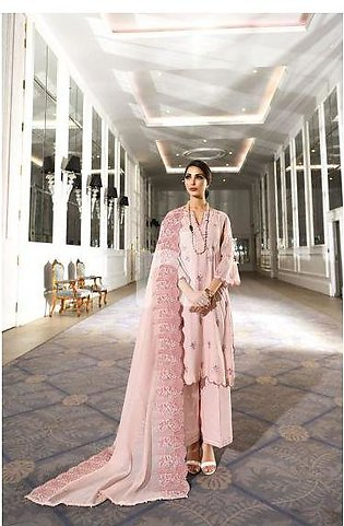 41908017-Swiss Cotton – Pink Embroidered Luxury Unstitched 3PC