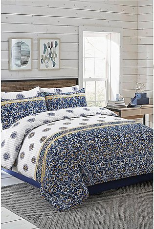 Duvet Cover Blue Tile