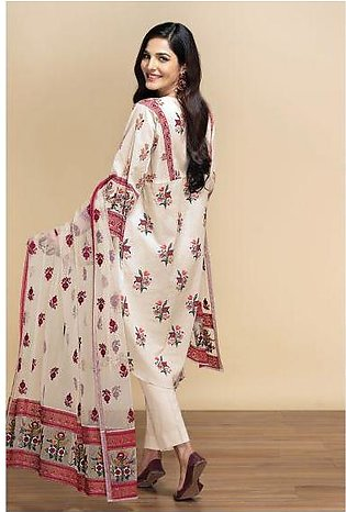 42001302- Digital Printed Lawn, Cambric & Embroidered Net 3PC