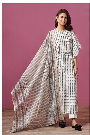 41907530- Printed Lawn & Voil 2PC