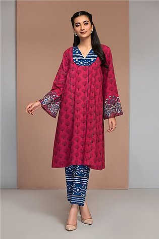 42003647-Printed Embroidered Khaddar 2PC
