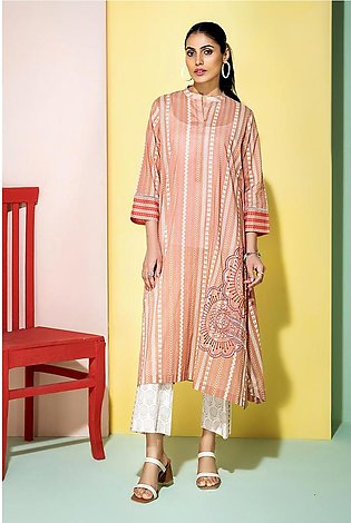 PS20-183 Printed Embroidered Stitched Super fine Lawn Shirt & Trouser - 2PC