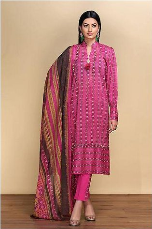 42001329- Printed Lawn & Voil 2PC
