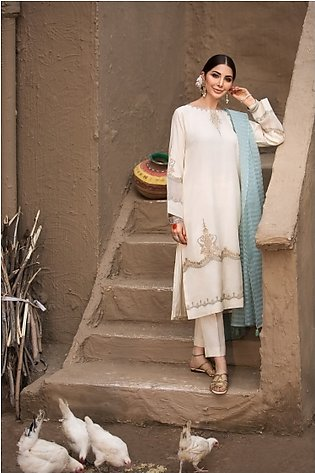 KF20-80 A - Dyed Embroidered Stitched Formal Shirt & Trouser – 2PC