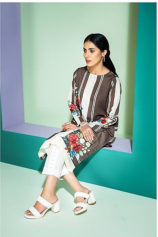 PS20-175 Digital Printed Embroidered Stitched Lawn Shirt - 1PC