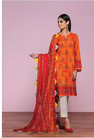 42001288- Printed Embroidered Lawn, Cambric & Printed Voil 3PC
