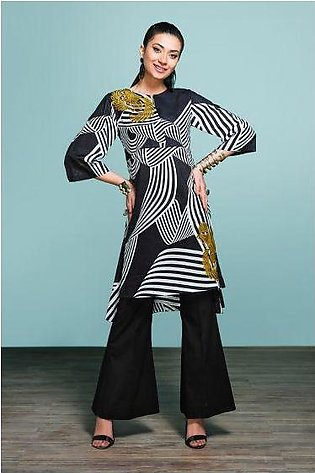 42001319- Printed Embroidered Lawn & Cambric 2PC
