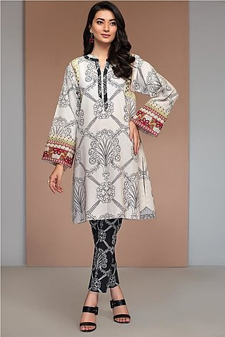 42003640-Printed Embroidered Khaddar 2PC