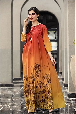 KFS21-47-Embroidered Formal Stitched Long Dress-1PC