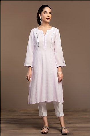 KF20-09 Dyed Embroidered Stitched Formal Shirt – 1PC