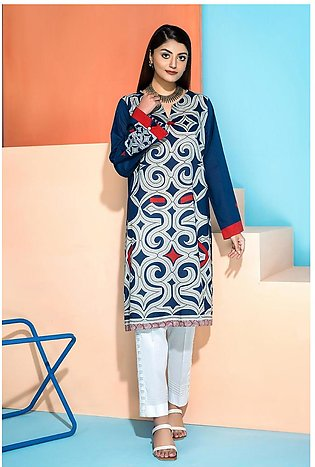 PS20-236 - Printed Stitched Lawn Shirt - 1PC
