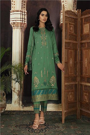 42101168-Embroidered Dyed Super Fine Lawn & Cambric-2PC