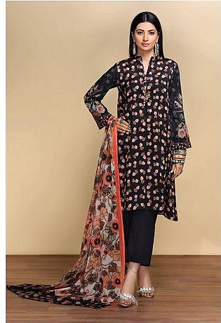 42001207- Digital Printed Embroidered Lawn, Cambric & Voil 3PC