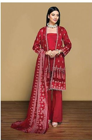 42001343- Printed Lawn & Voil 2PC