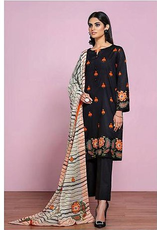 42001294- Printed Embroidered Lawn, Cambric & Voil 3PC