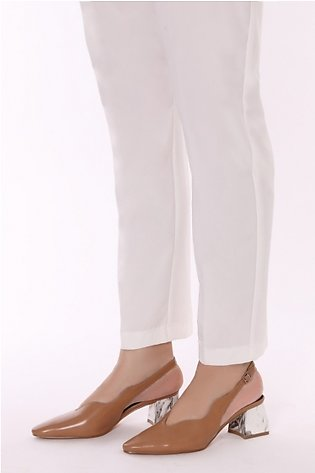 GG ZYG-905078-TR - White Dyed Stitched Polyester Pant for Women