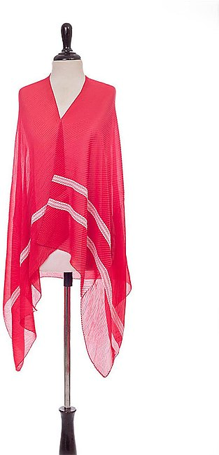 Red Women Scarf-411202101-S21
