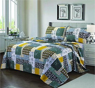 Bed Sheet Yellow Patch