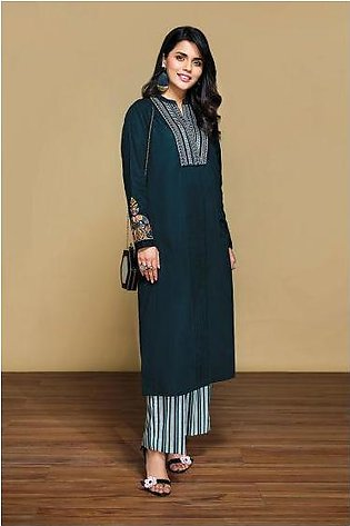 42001310- Printed Embroidered Lawn & Cambric 2PC