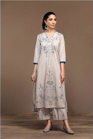 KF20-16 Dyed Embroidered Stitched Formal Shirt & Trouser – 2PC