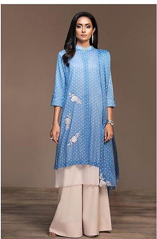 KF20-04 Printed Embroidered Stitched Formal Voil Shirt & Dupatta – 2PC