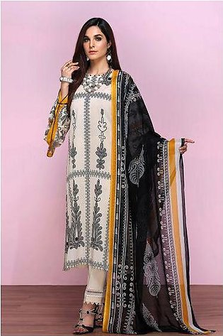 42001341- Printed Lawn & Voil 2PC