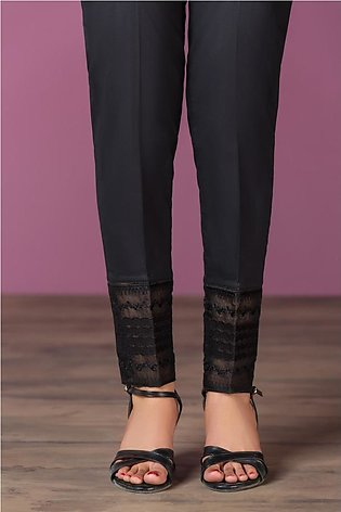 PS20-69 Dyed Embroidered Stitched Cambric Trouser