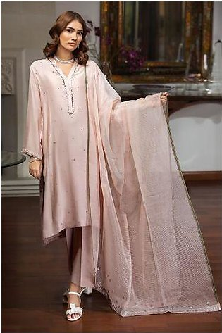 KF-427 Stitched Formal Cotton Net Shirt & Shalwar – 2PC