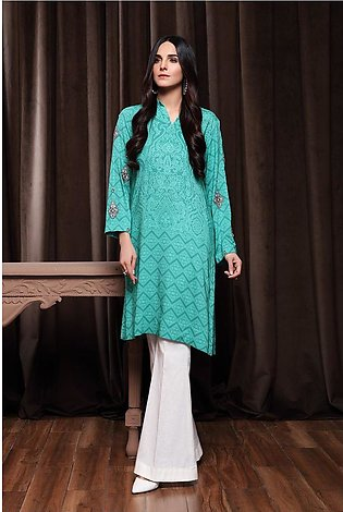 PW20-129 Embroidered Printed Stitched Linen Shirt-1PC