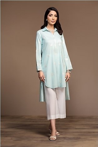 KF20-10 Dyed Embroidered Stitched Formal Lawn Shirt – 1PC