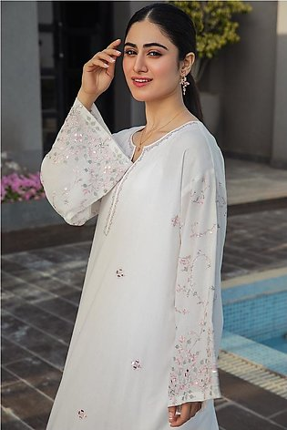 KFS21-21-Embroidered Center Paneled Formal Stitched Kurta-1PC