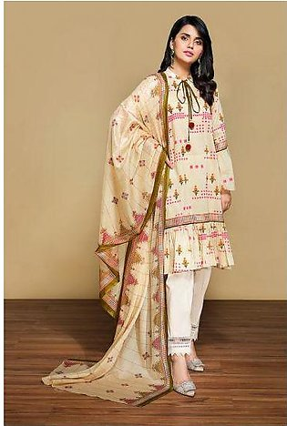 42001334- Printed Lawn & Voil 2PC