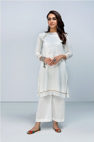 KF-447 Dyed Stitched Formal Lawn Shirt, Slip & Trouser – 3PC