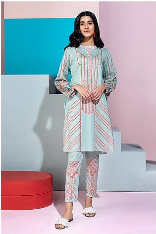 PS20-193 Printed Embroidered Stitched Lawn Shirt & Trouser - 2PC