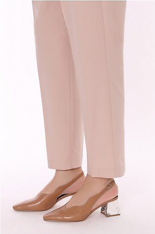 GG DP ZYG-909309 - Beige Dyed Stitched Polyester Spandex Pant for Women