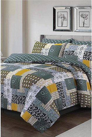 Bedspread Yellow Patch
