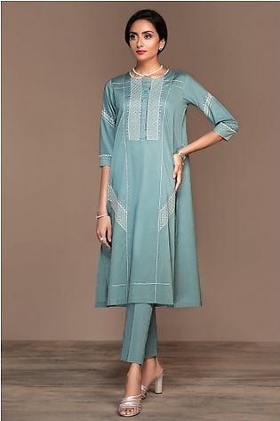 KF20-22 Dyed Embroidered Stitched Formal Lawn Shirt – 1PC