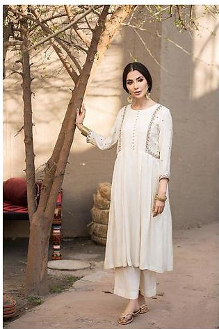 KF20-85 Dyed Embroidered Stitched Formal Swiss Lawn Shirt  – 1PC