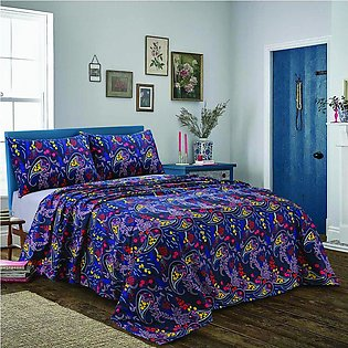 Bed Sheet Paisley Flower