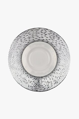 Yalle Silver Round Place Mat (Pack of 2)