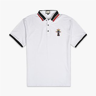 GUCCI Embroidered Logo Polo Shirt