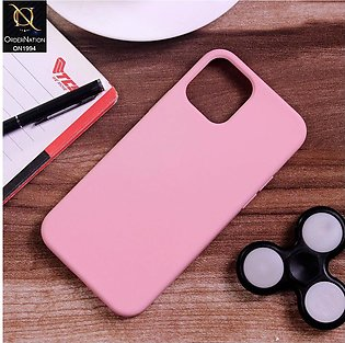 iPhone 12 Pro Cover - Baby Pink - Matte Shockproof Sillica Gel Soft Case
